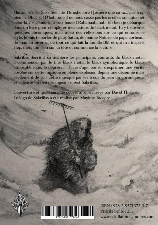 4e de couverture, sakrifiss, black metal, David Thiérrée